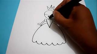 Como dibujar una princesa, How to draw a princess