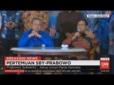 Breaking News! Konpers Pertemuan SBY & Prabowo di Cikeas