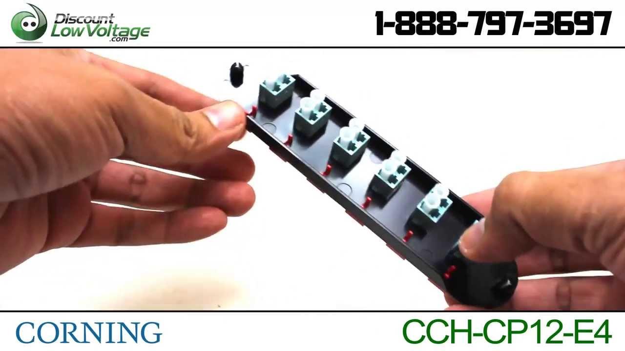 Corning CCH-CP12-E4 | 6 Port Duplex (12F) LC Fiber Panel - YouTube