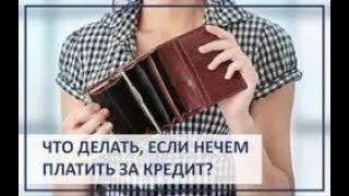 Досудебные отношения с кредитными организациями. Что делать если нечем платить банку по кредиту?