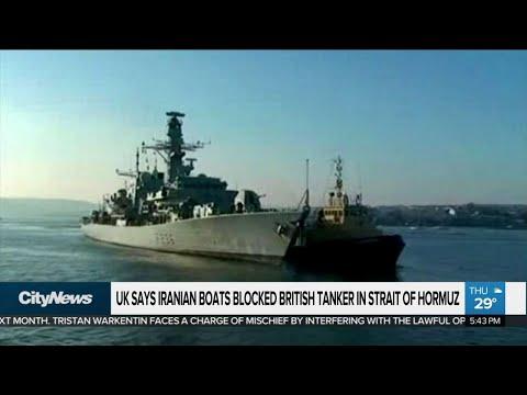 UK says Iranian boats blocked British tanker