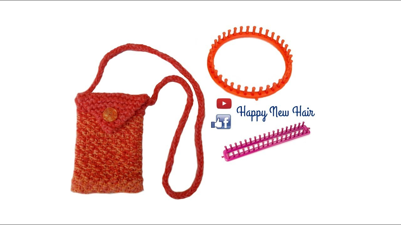 Tricotin petit sac pochette point de bl i loom knitting youtube - Comment terminer un tricotin ...