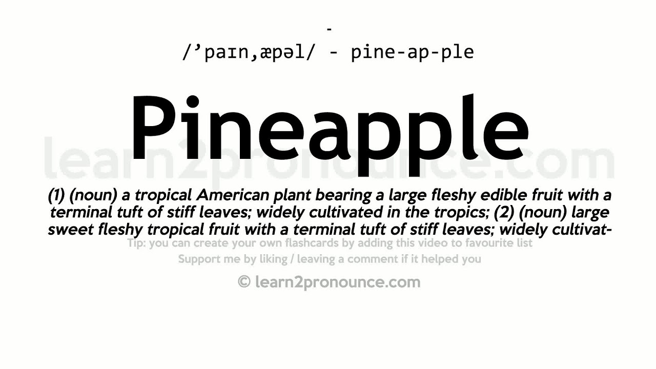 Pineapple pronunciation and definition