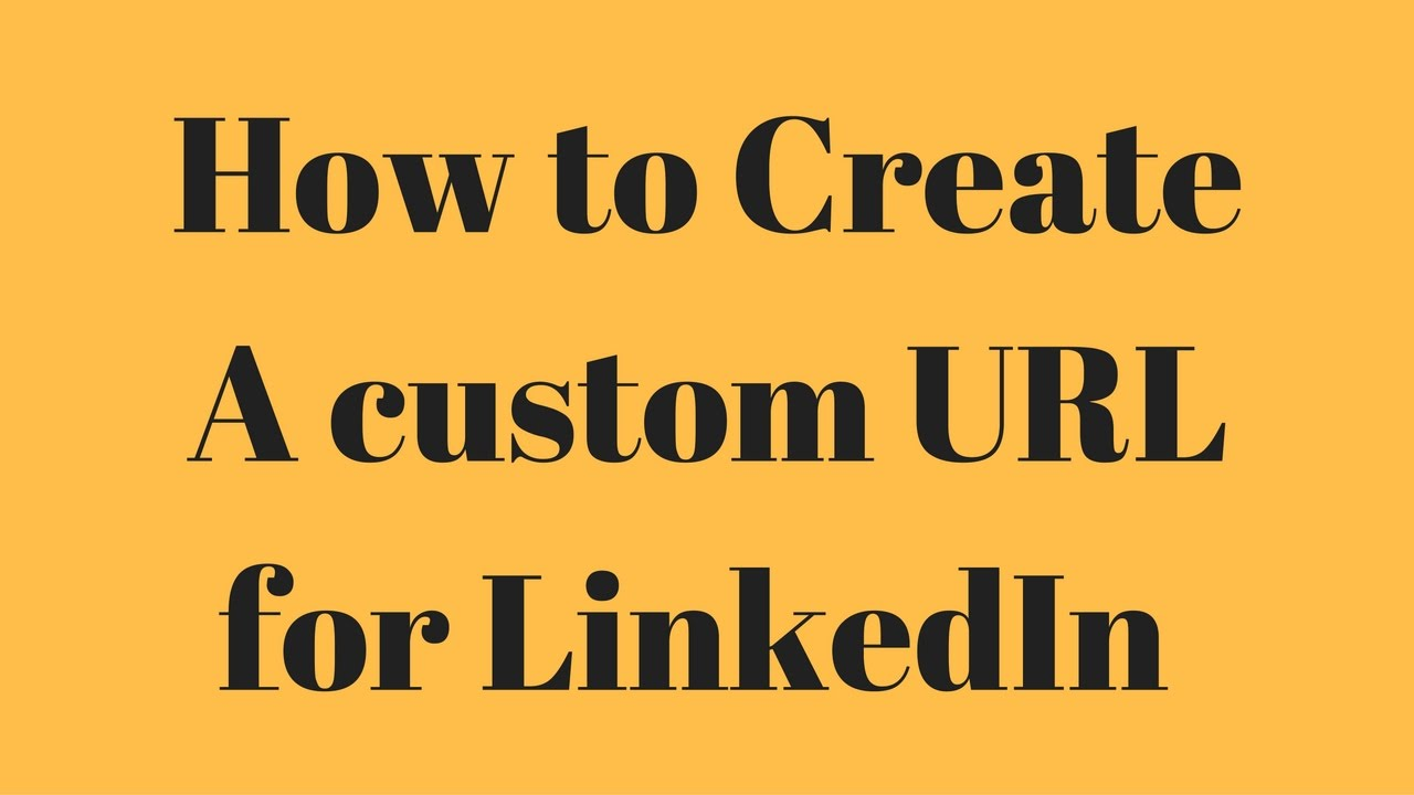 how to make a linkedin url