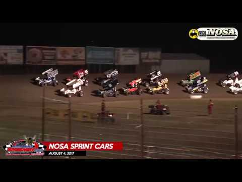 Buffalo Wild Wings NOSA Sprint Cars - August 4, 2017 - River Cities Speedway