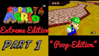 super mario 74 extreme edition poop version   part 1   rdiger show