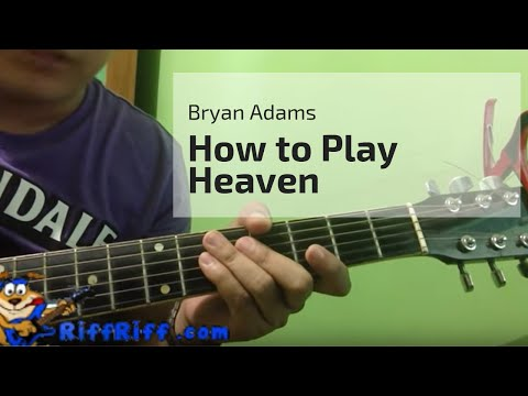 How to Play Heaven on Guitar by Bryan Adams