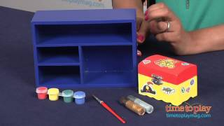 Decorate-your-own Wooden Treasure Chest From Melissa & Doug