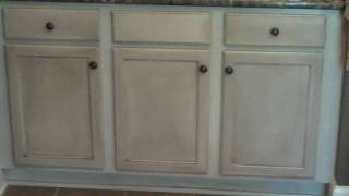 Current Cabinet Refinishing Project Bathroom Vanity - After Video 4