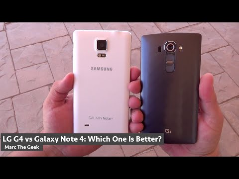 LG G4 vs Galaxy Note 4: Which One Is Better?