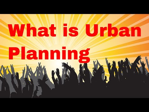 Lecture on Basics of Urban Planning