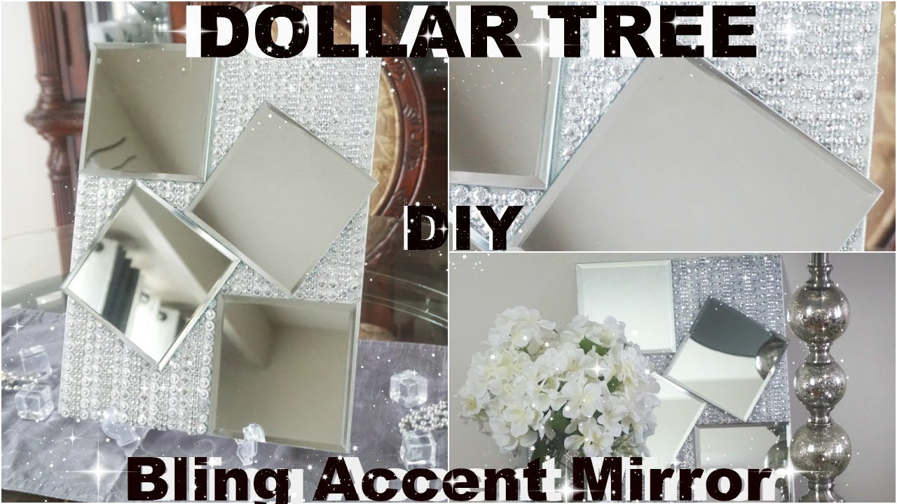 Diy Dollar Tree Mirror Diy Bling Decor With Kingso Diamond Mesh Wrap Diy Glam Home Accent Piece