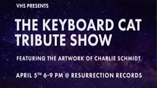 Keyboard Cat/Charlie Schmidt  Art Opening