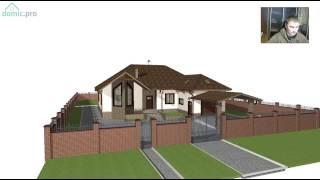 видео Проект одноэтажного дома с тремя спальнями