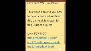 DUNGEON QUEST LATEST MOD 2016