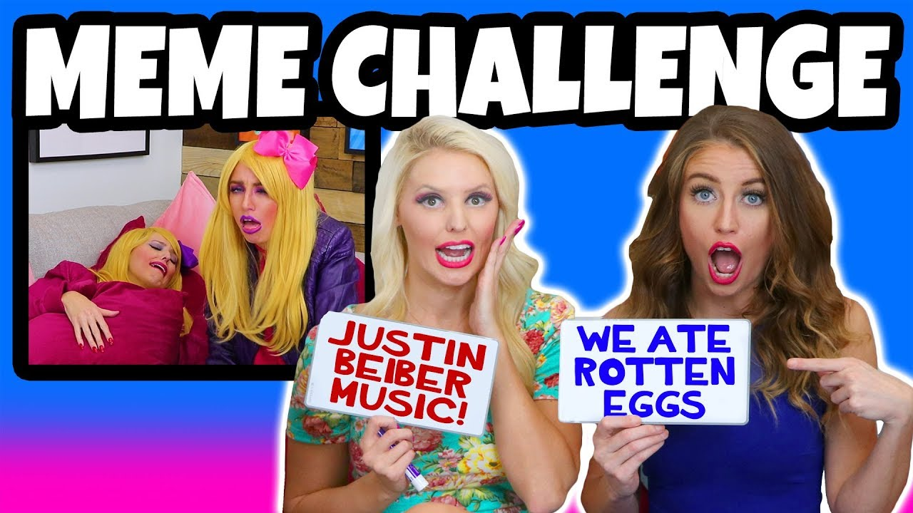 MEME Challenge  We Try Not to Laugh with Funny Captions  Totally TV