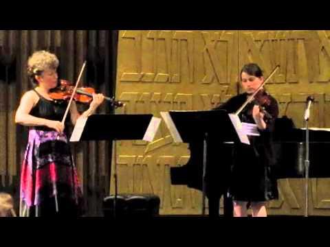 Marta Szlubowska and Julia Kirk, Handel-Halvorsen Passacaglia for violin and viola