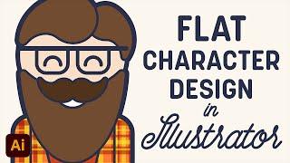 Vector Hipster Character Illustrator Tutorial