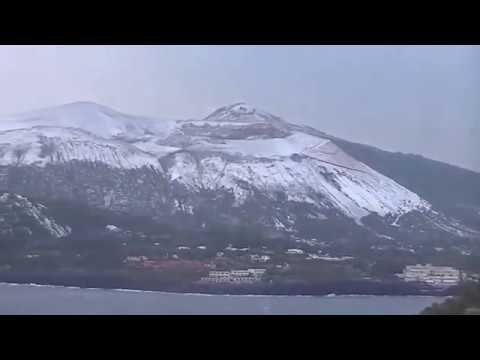 7 Gennaio 2017. Nevicata a Lipari, Vulcano e Salina