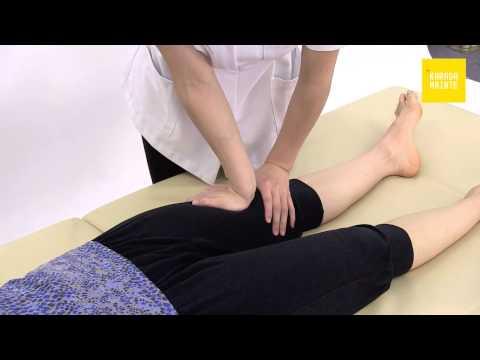 19大腿のマッサージのやり方(仰向け左側)