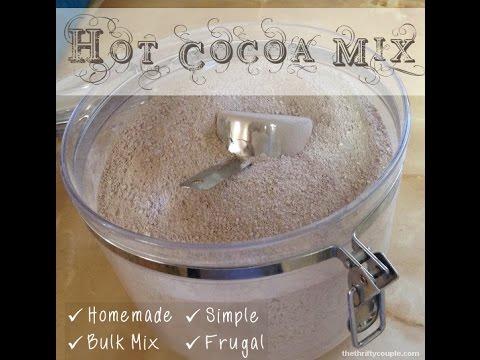 Homemade Bulk Hot Cocoa Mix Recipe