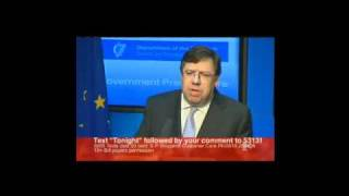 Vincent Brown questions Irish Taoiseach Brian Cowen after announcing imf bailout