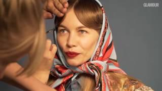 Светлана Устинова на съёмках для октябрьского номера Glamour