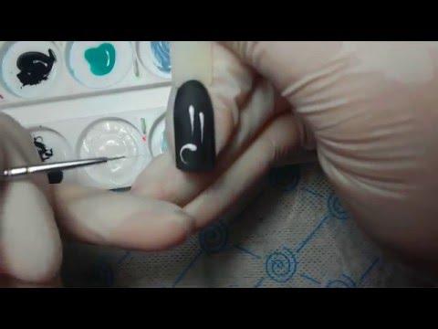 Как правильно рисовать вензеля на ногтях пошагово видео для начинающих