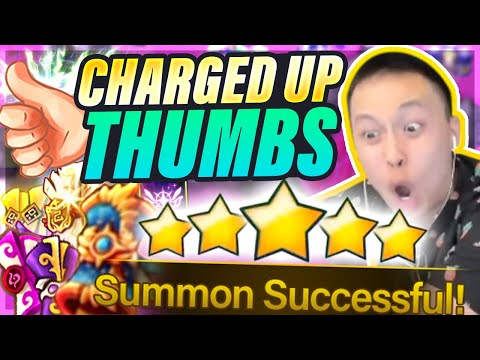 MAX Thumb Luck?! 1 Year Summon Session?! - Popping BLESSINGS & Pulling NAT 5s!