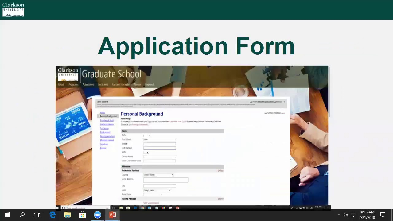 Graduate Admissions at Clarkson University