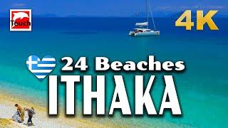 24 Best Beaches of ITHACA Island, Greece ► 10 minutes 4K