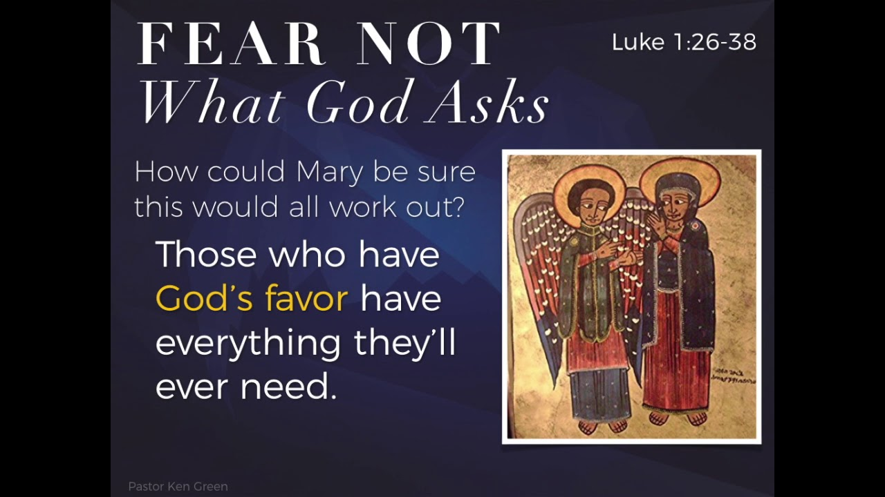 Fear Not What God Asks Prince Of Peace Lutheran Church