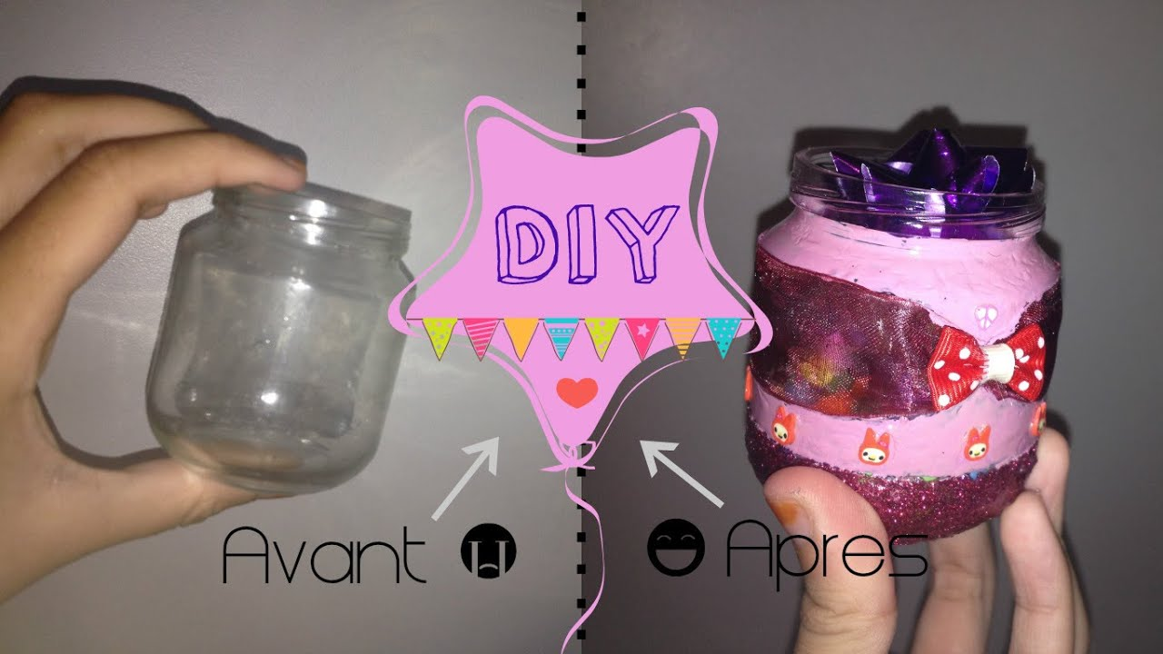 Super DIY] Customiser un pot en verre ! - YouTube AB89
