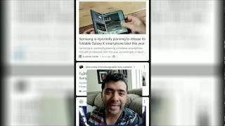 Samsung esta planeando lanzar su doblante Galaxy X smartphone este 2018