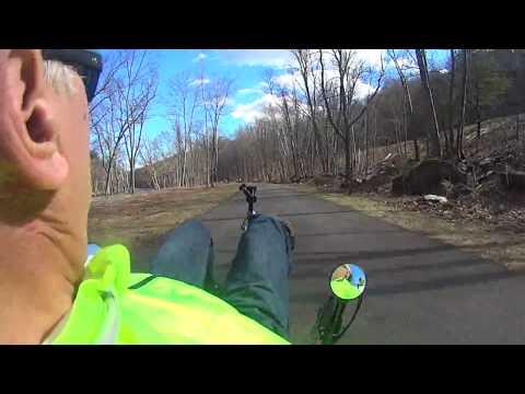#475 First ride 2017 recumbent bike April 2