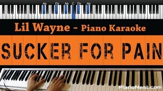 Lil Wayne - Sucker For Pain - Piano Karaoke / Sing Along / Cover with Lyrics