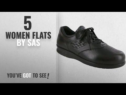 Top 5 Sas Women Flats [2018]: SAS Women's FreeTime comfort shoe, Black, 7W