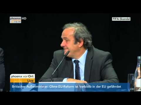 UEFA-Pressekonferenz mit Michel Platini am 28.05.2015