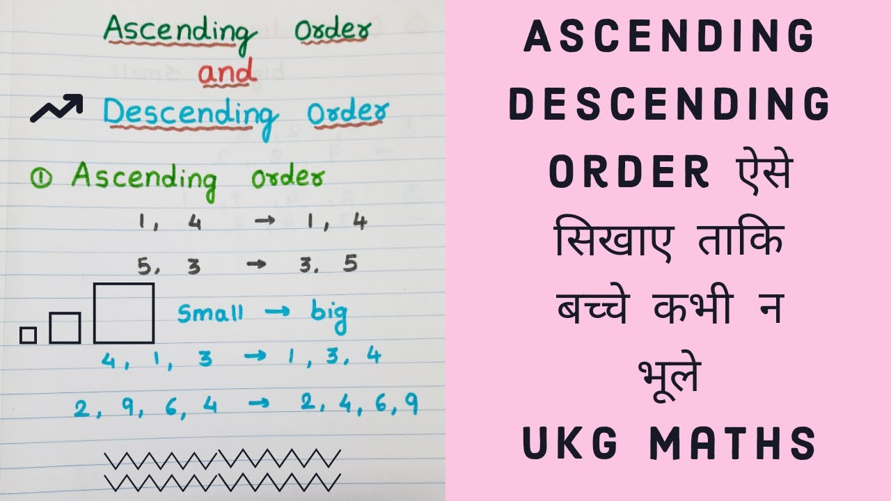 small resolution of बच्चों को Ascending Descending Order कैसे सिखाएं   How to teach Ascending  Descending Order - YouTube