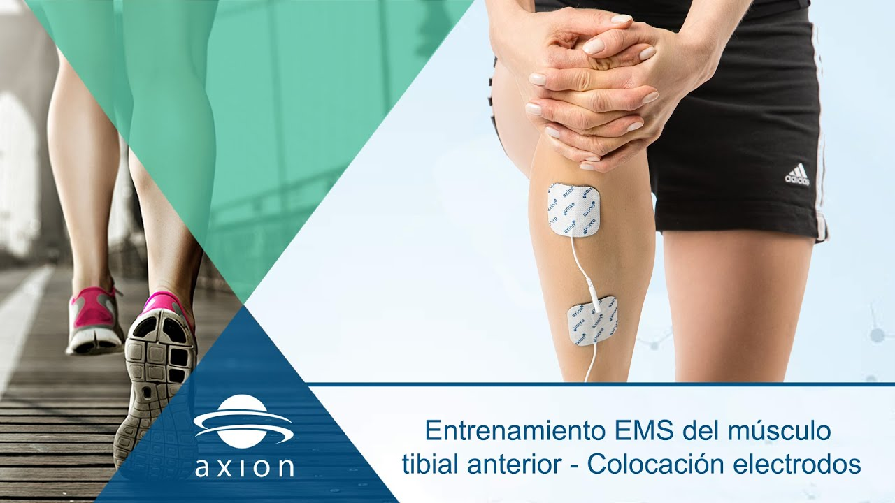 Entrenamiento EMS del músculo tibial anterior - Colocación ...