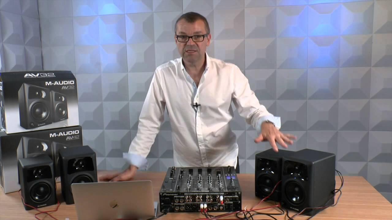 M-audio Av42  U0026 Av32 Multimedia Speakers Review