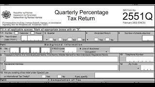 BIR Form 2551Q (ETM) Filling Up Correctly