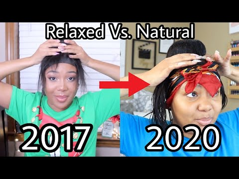 HOW TO: Big Bun + Laid Edges    I Followed my 2017 Relaxed Tutorial on my Natural Hair.