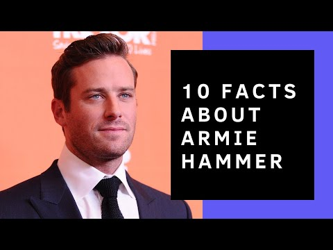Armie Hammer // 10 Facts You Didn't Know About Him