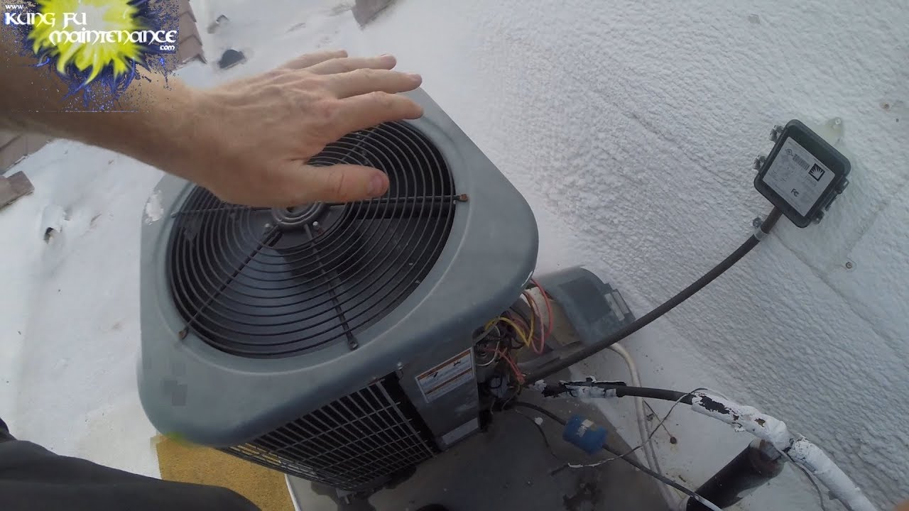 How To Cool Down Overheated Air Conditioner Compressor Fast On Unit With AC  Fan Above