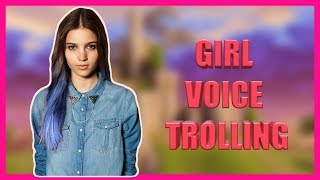 Girl Voice TROLLING | Fortnite Battle Royale