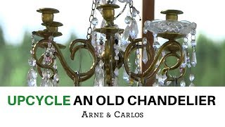 How to embellish an old Chandelier with beads, pearls and crystals - by ARNE & CARLOS