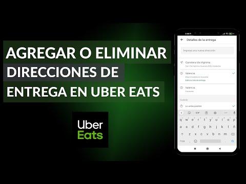 Cómo Agregar o Eliminar Direcciones de Entrega en Uber Eats - Fácil y Rápido