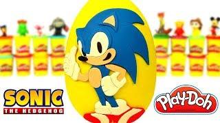 Ovo Surpresa Gigante do Sonic o Ouriço em Português Brasil de Massinha Play Doh
