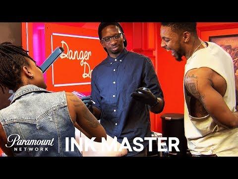 Black & Grey Cherubs: Elimination Tattoo   Ink Master: Shop Wars (Season 9)